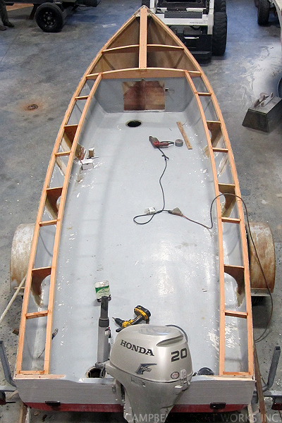 Replacing a Deck on a Skiff, Bourne MA