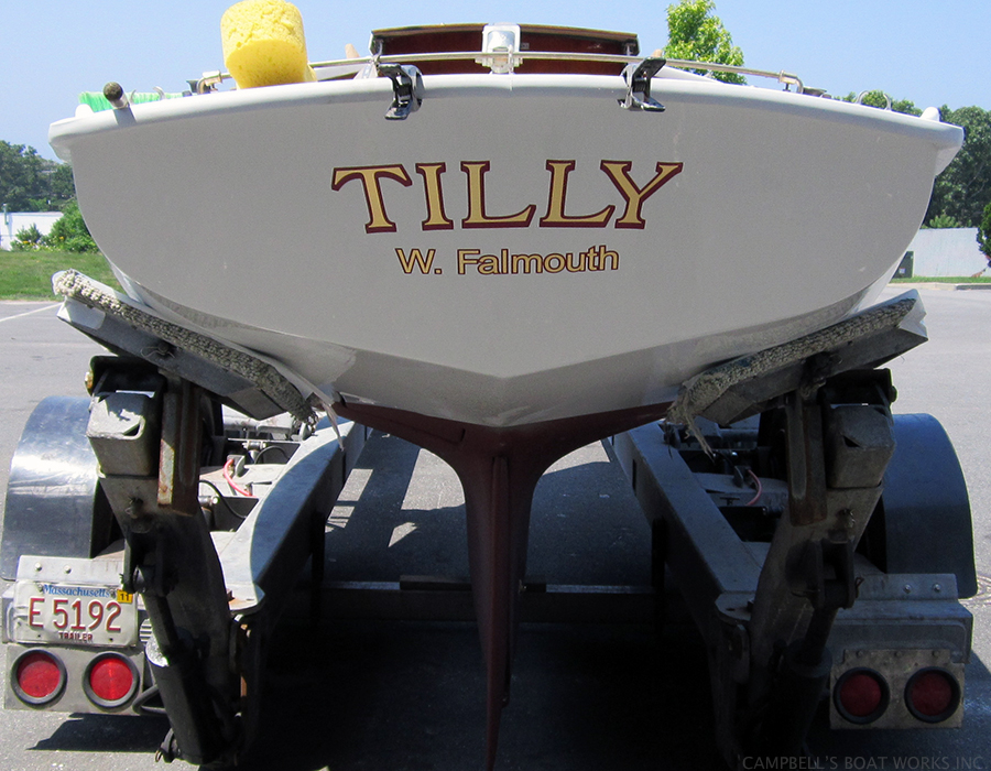 Tilly Finished Boat Restoration Ready For Launch