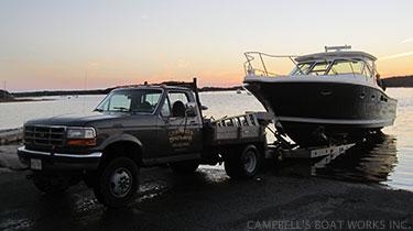 Last Boat Hauled Before a Hurricane  Bourne, Cape Cod