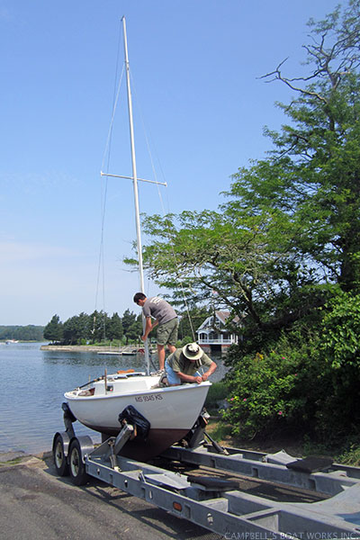 Stepping Tilly's Mast for Spring Launch