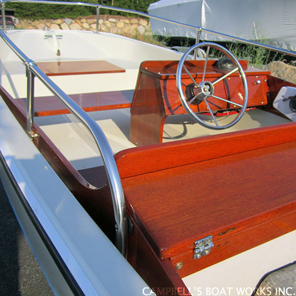 Refinished Brite Work and Varnish Boston Whaler Cataumet Cape Co