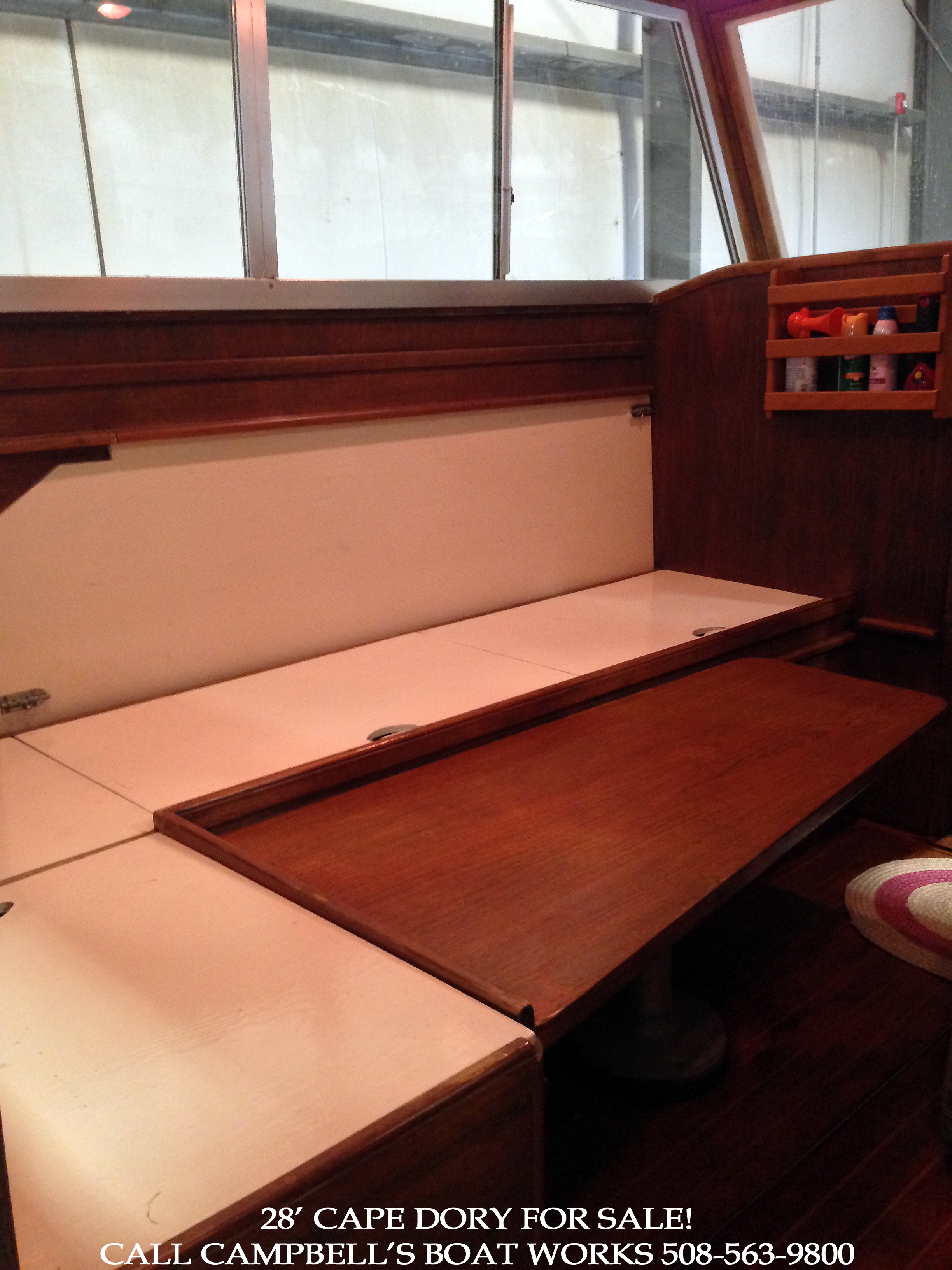 Storage and Seating 28' Cape Dory Powerboat For Sale