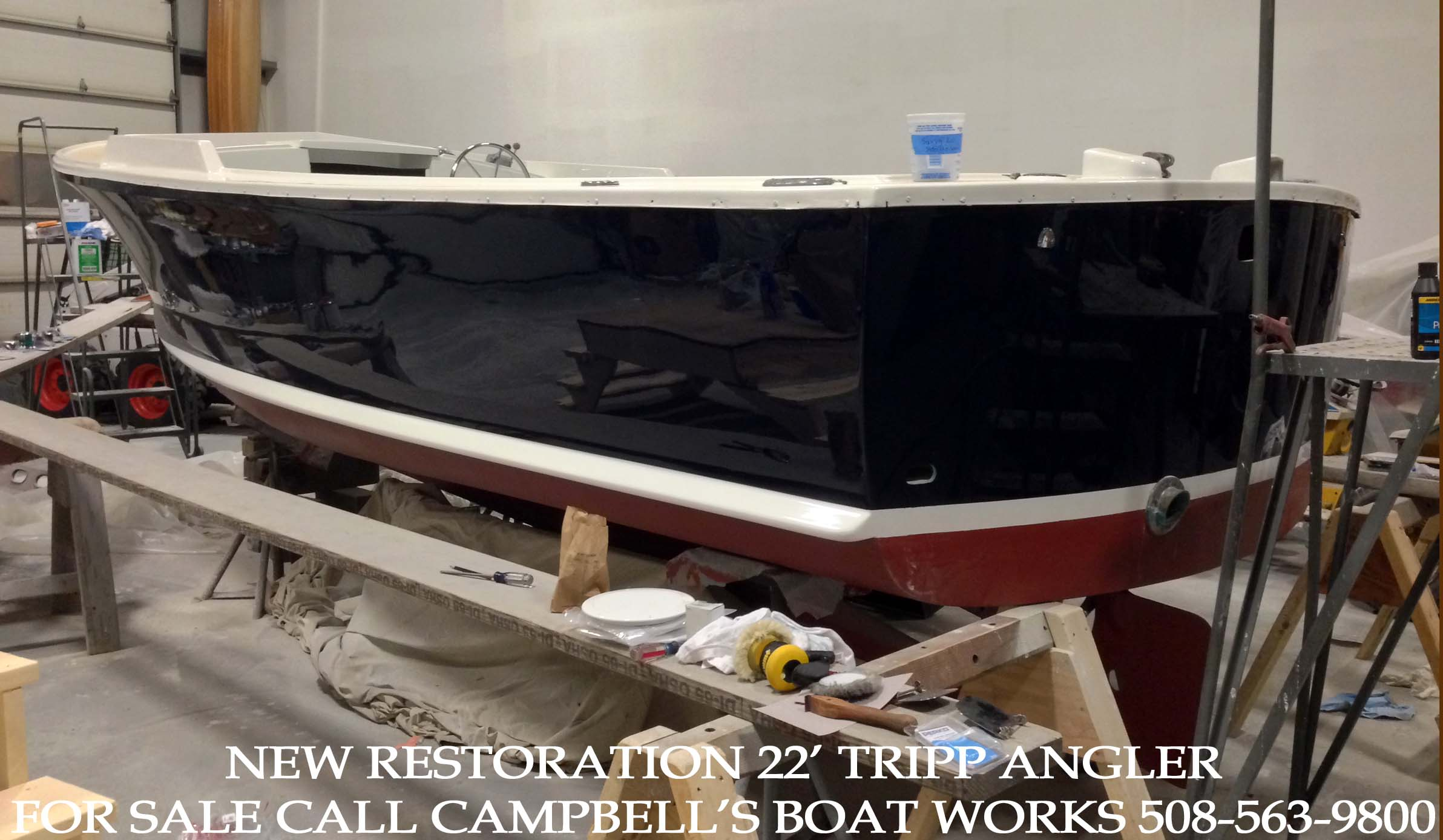 Downeast Bass Boat For Sale 22' Tripp Angler 2014