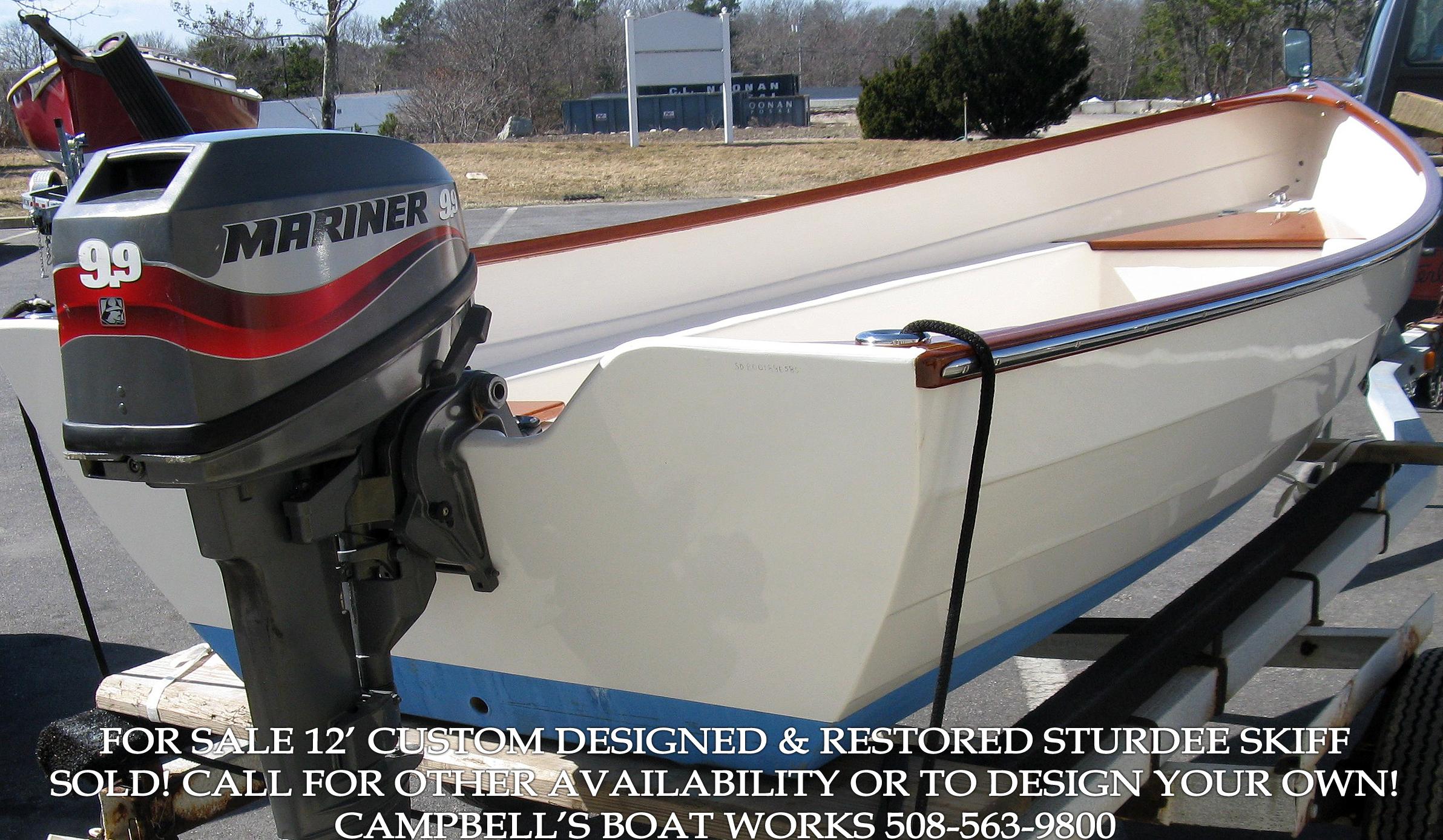 Boat For Sale 12' Custom Skiff Restored from a Sturdee Skiff