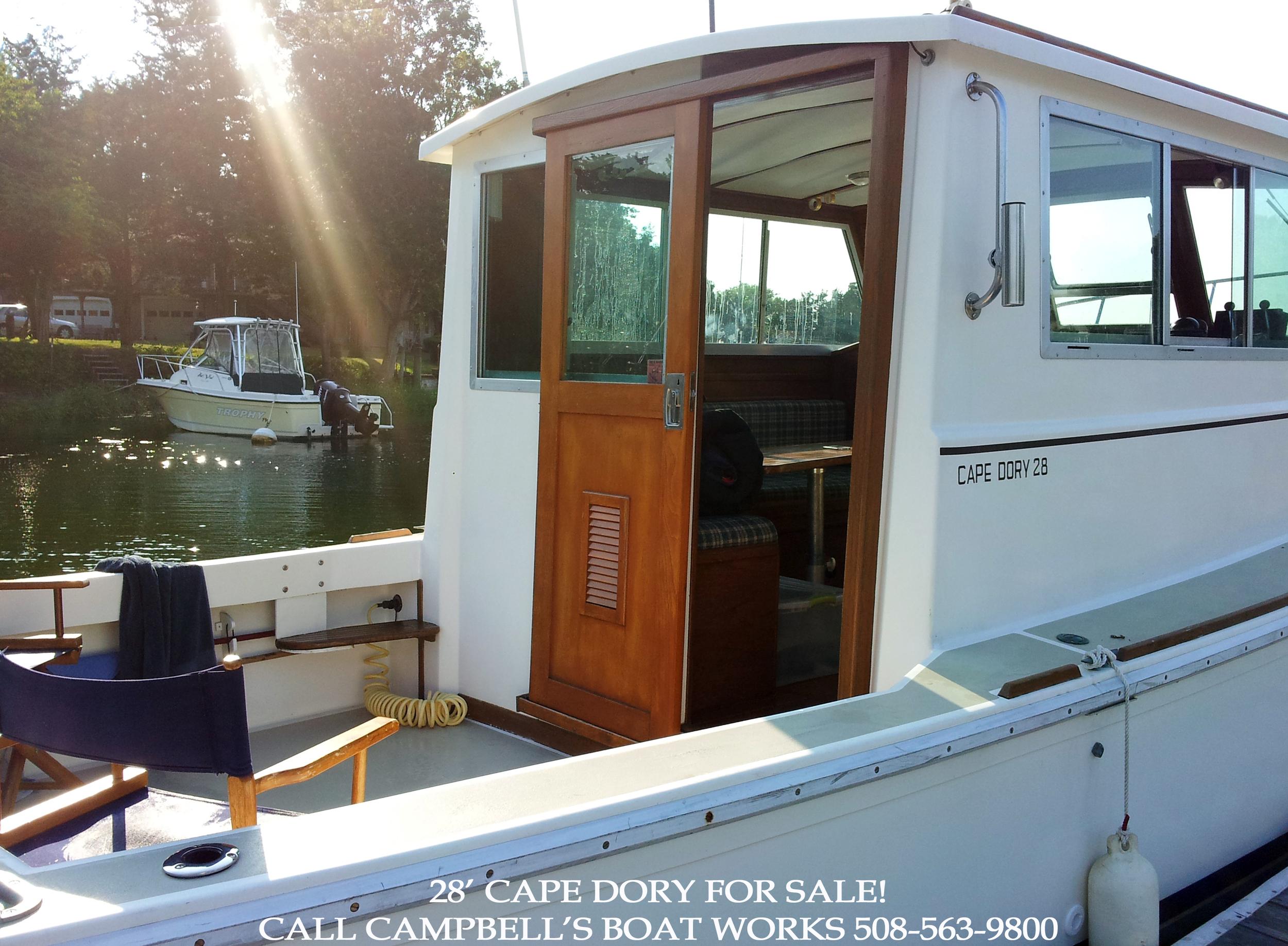 28' Cape Dory Hardtop Trawler For Sale