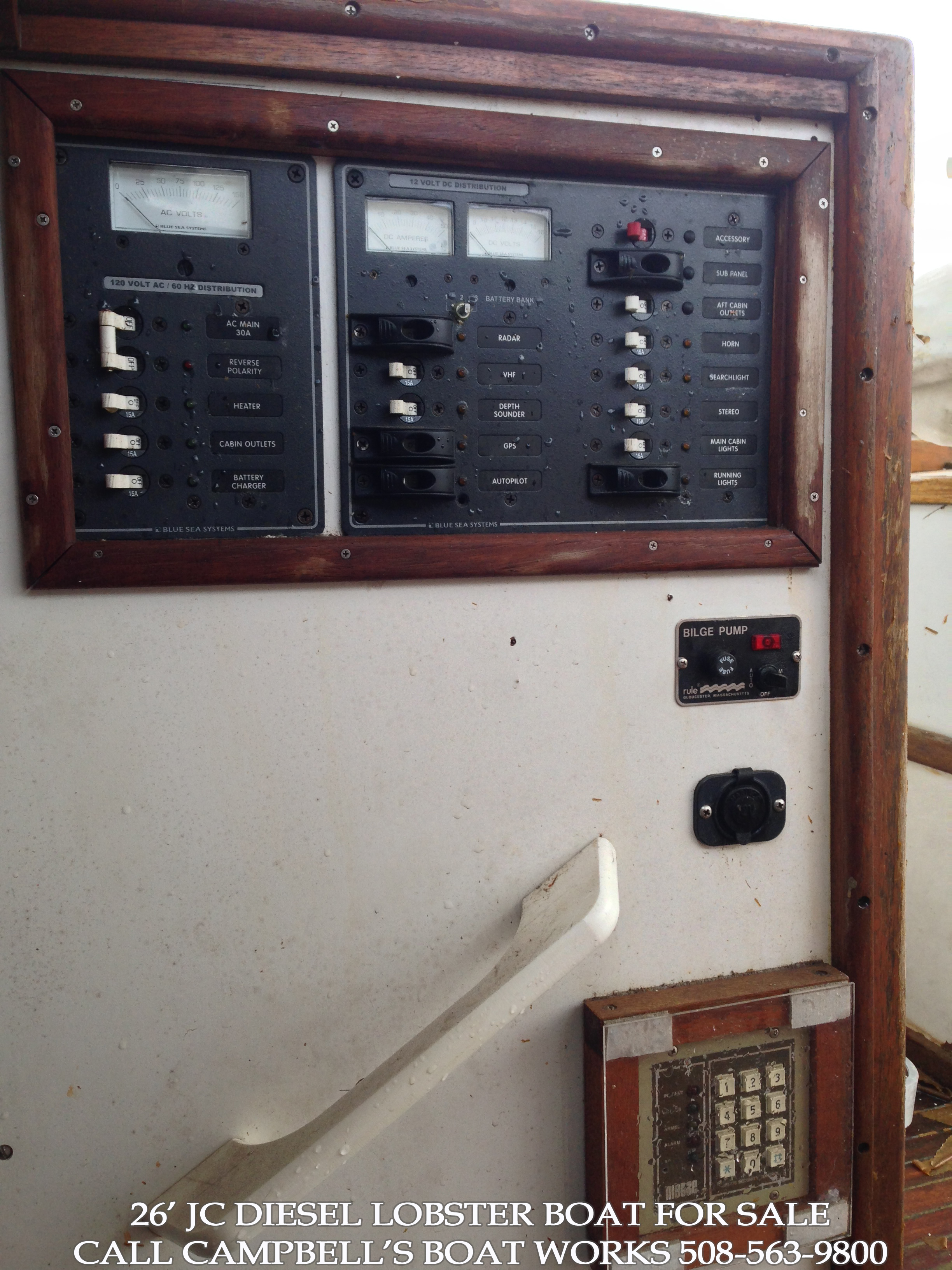 26 JC Downeast Lobster Style Diesel Boat For Sale
