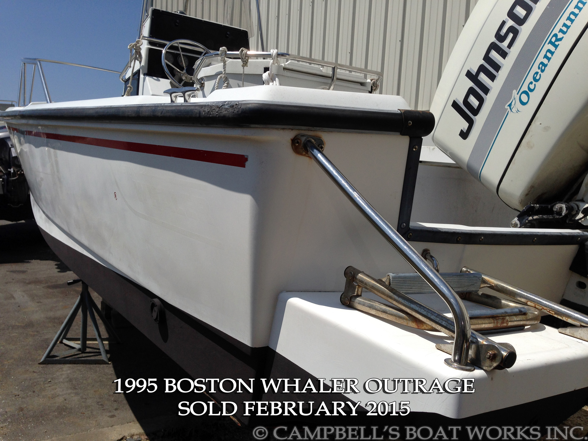 21' Boston Whaler Outrage For Sale