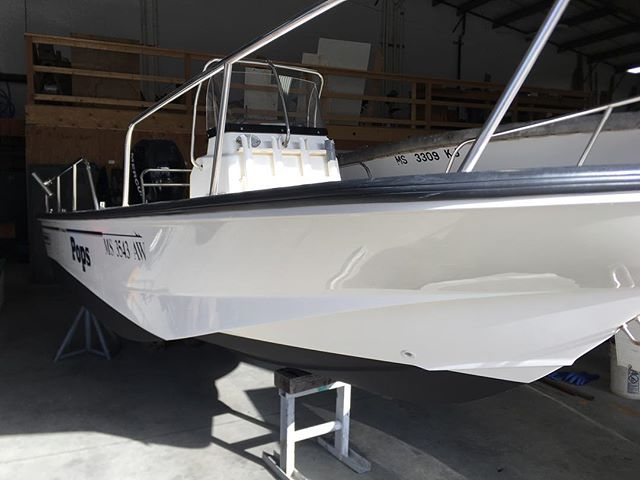 It's that time of year again... wash, buff, wax, bottom paint, launch, repeat! #boatdetailing #bostonwhaler #springcommissioning #boating #capecod #campbellsboatworks