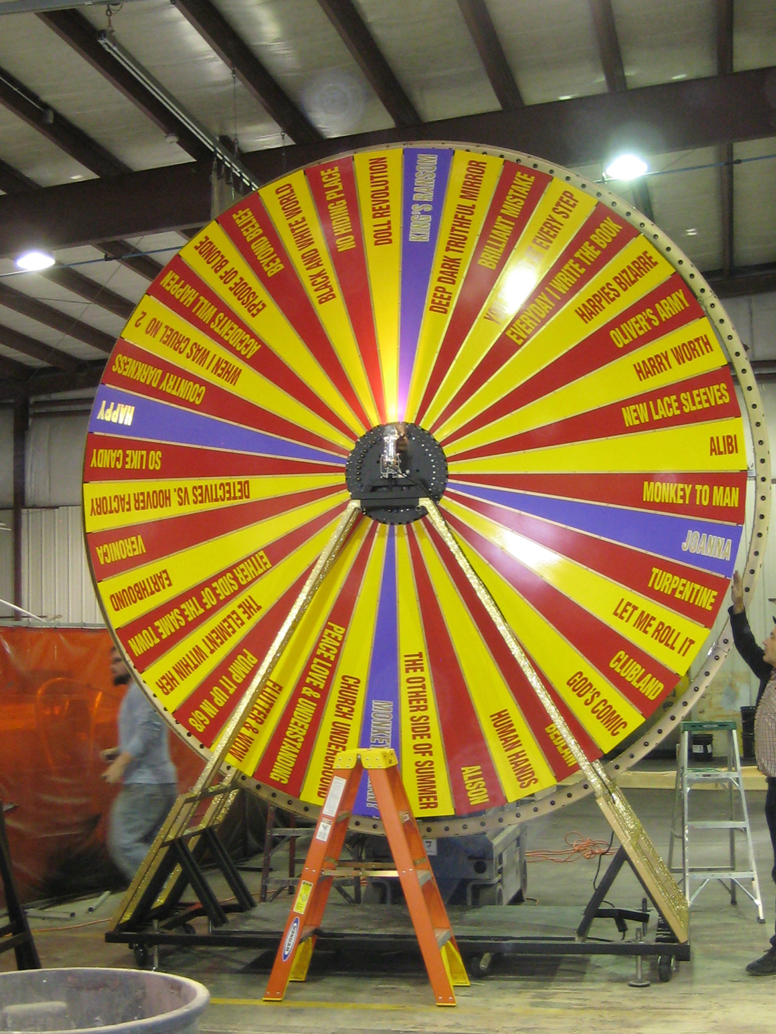 The new Songwheel at the Atomic Design workshop in 2011.