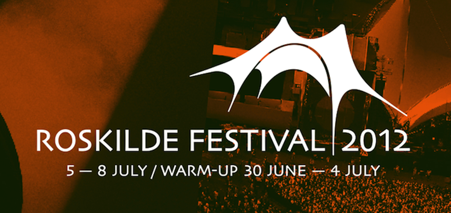 The Roskilde Festival logo which has featured the Orange Canopy from the start
