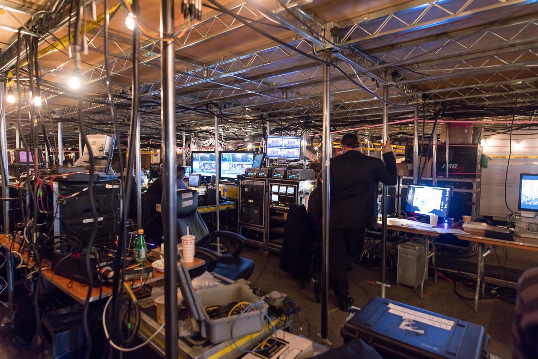 Show control & tech area beneath event deck - 2016