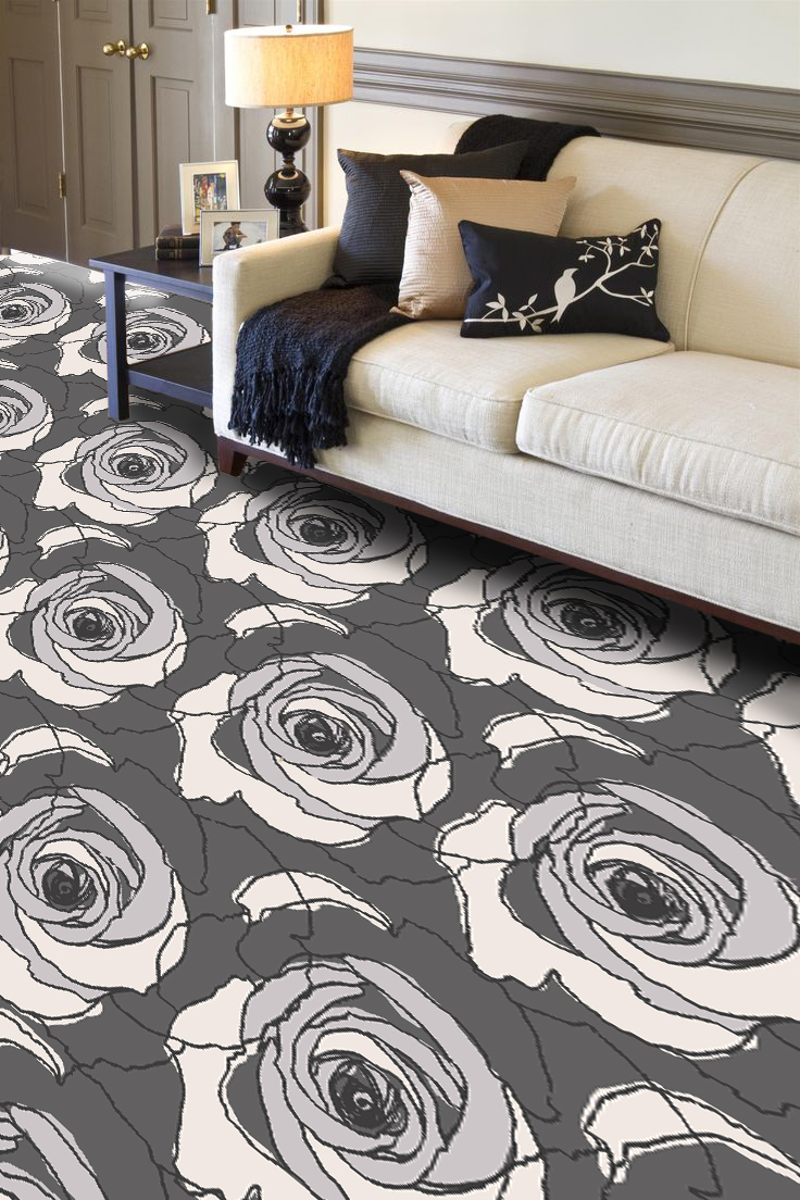 """Pattern # 6141                              Pattern Name: Petal Pusher  Pattern Repeat: 36"""" x 41""""  Straight Match  In Stock"""