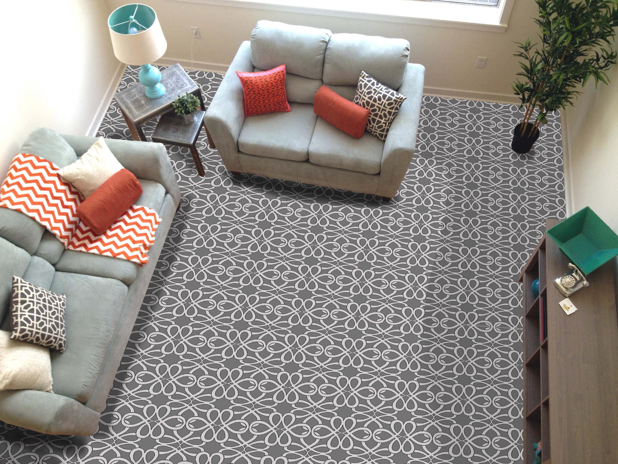 """Pattern # 6029                              Pattern Name: Knotty Swirl  Pattern Repeat: 12"""" x 12""""  Straight Match  12' x 25' Minimum"""