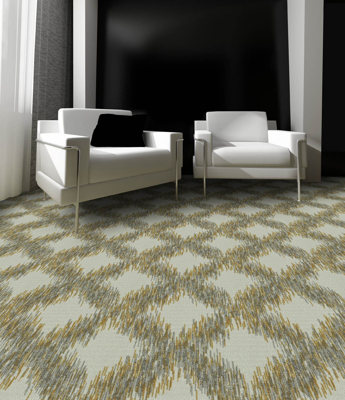 """Pattern # 5596                              Pattern Name: Cool Ikat  Pattern Repeat: 18"""" x 22""""  In Stock"""
