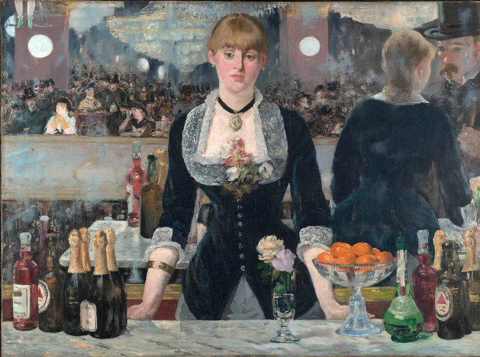 1882 the first product placement was done in an Edouard Manet painting by Base Ale, which was the first trademarked brand in the United States.