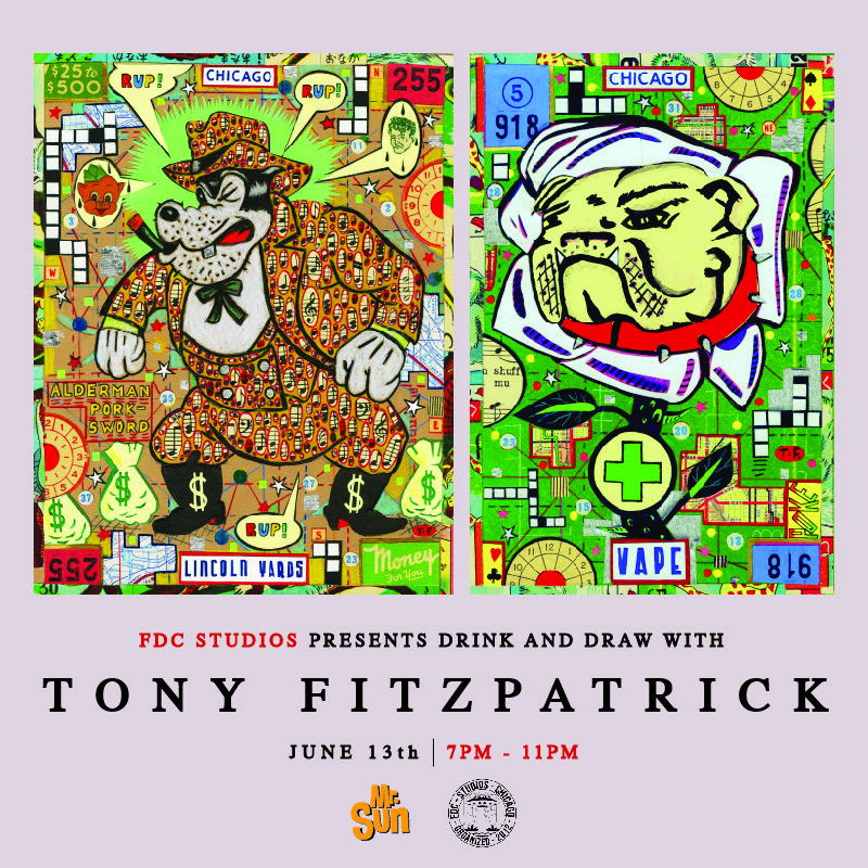 Drink and Draw Tony Fitzpatrick 6-13-19