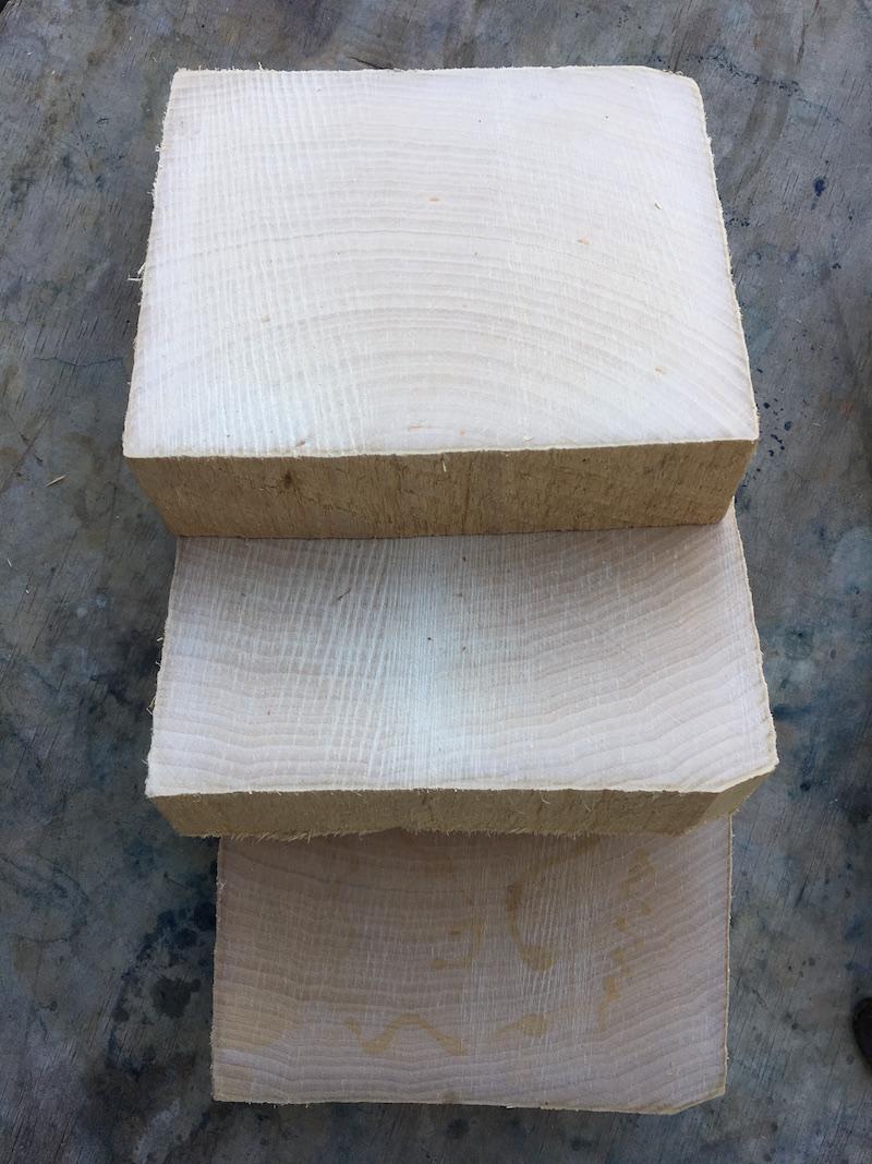 Wood block wood end grain sample graham keegan natural dye print.jpg
