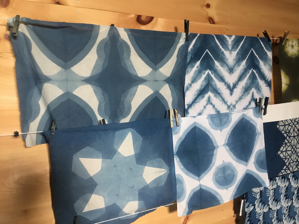 Graham Keegan Indigo Shibori Shifted Clamp Itajime Vermont Tour.JPG