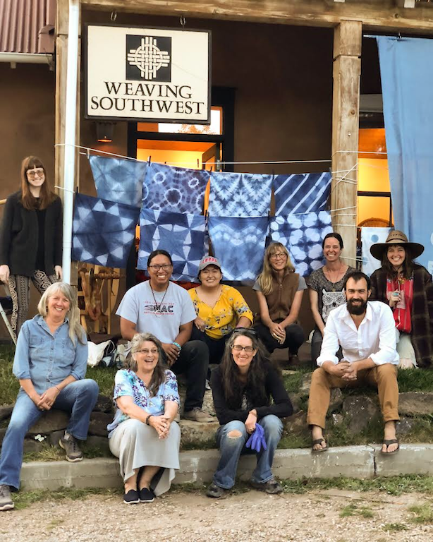 Weaving Southwest Indigo Class Tour Stop Graham Keegan Dye Workshop Class Shibori.PNG