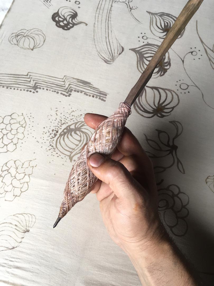 Graham Keegan Natural Dye Workshop Kalam Hand Painted Mordant Print Iron.jpg