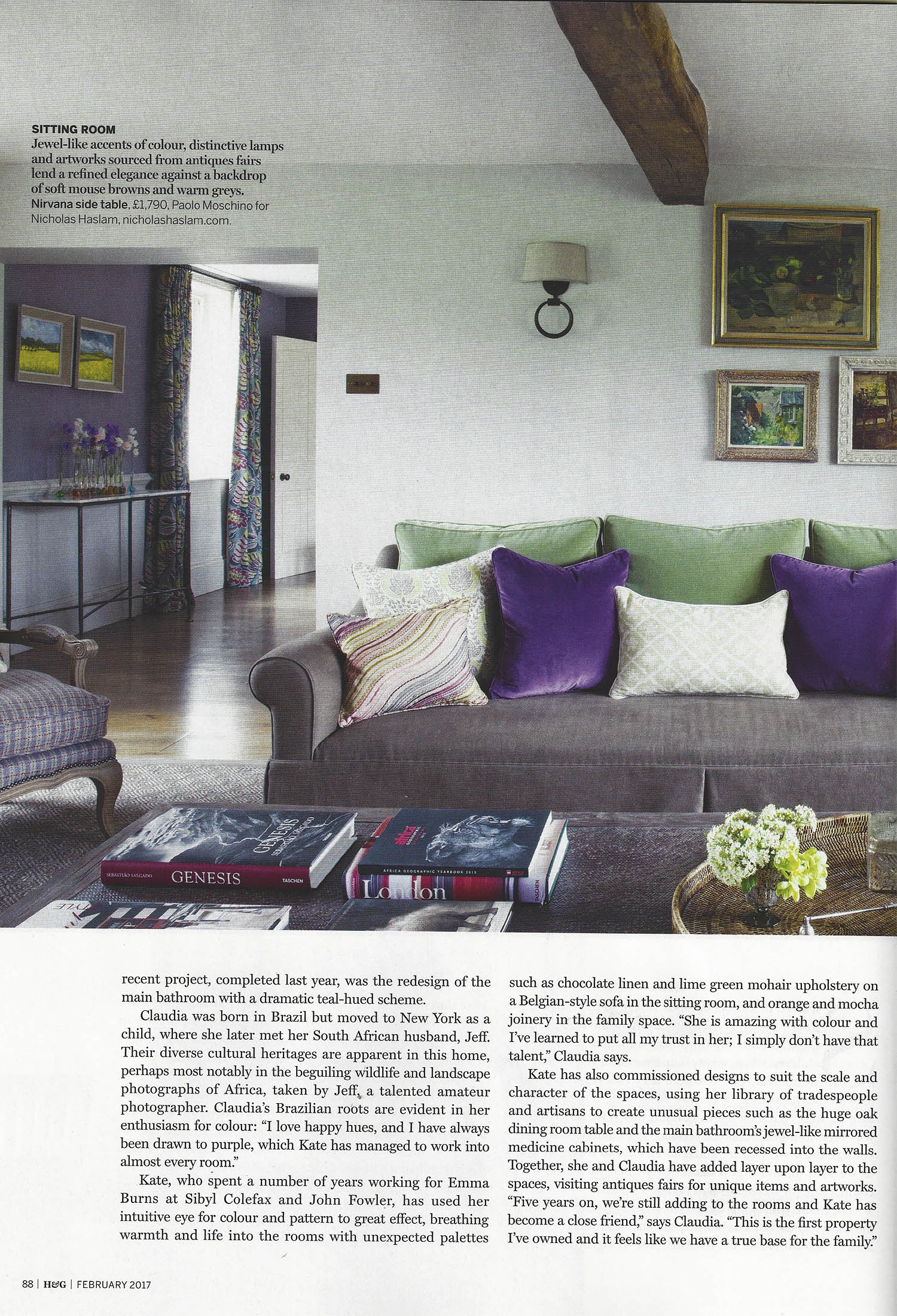House & Gardens - Feb 2017 - 'Inspired by Block Prints' - Page 88 - 89 - Cushion - Pomeroy-1.jpg