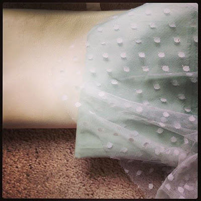 Savannah,GA: Well-Loved's Bridal Collection: White leather, blue cotton and dotted lace