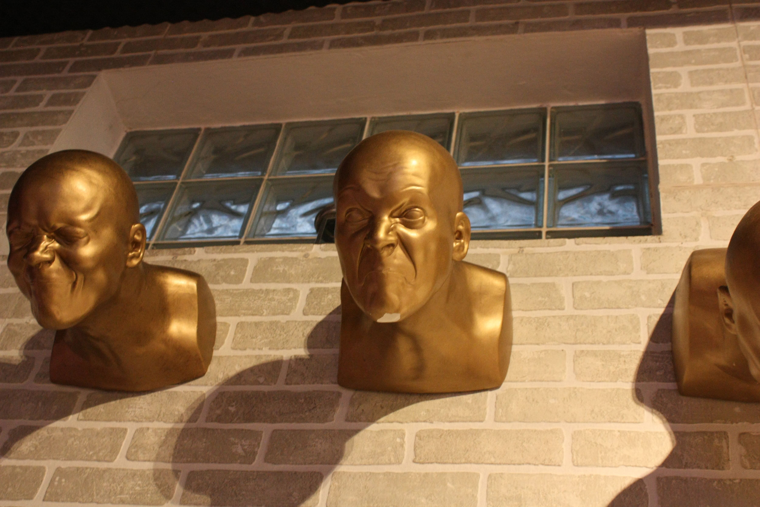 """DAY 5: Bratislava. The venue is called Hlava XXII, because it means """"head"""". So these guys are all around the place."""