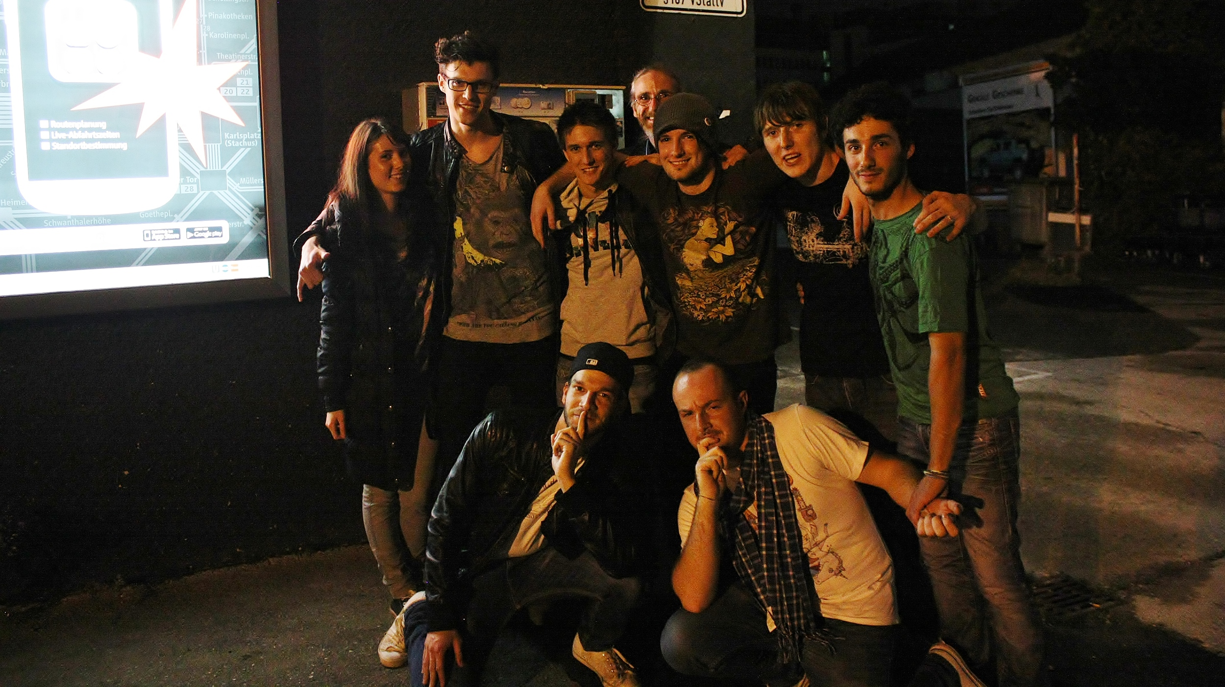 DAY 7: Munich. Outside Garage Deluxe with Coruna High & Rent-a-Fab.