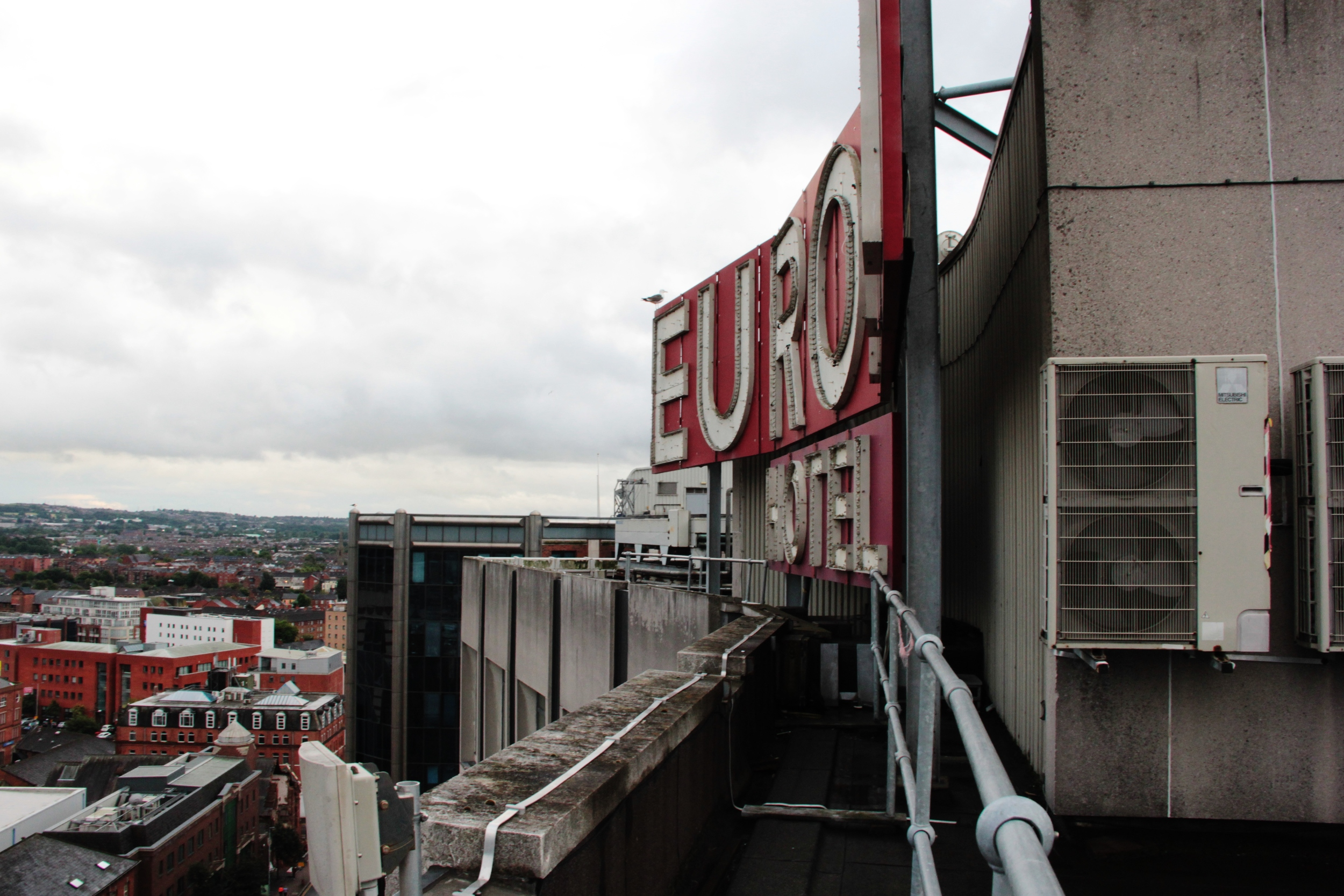 """""""Europa Hotel"""" sign without me in front...."""