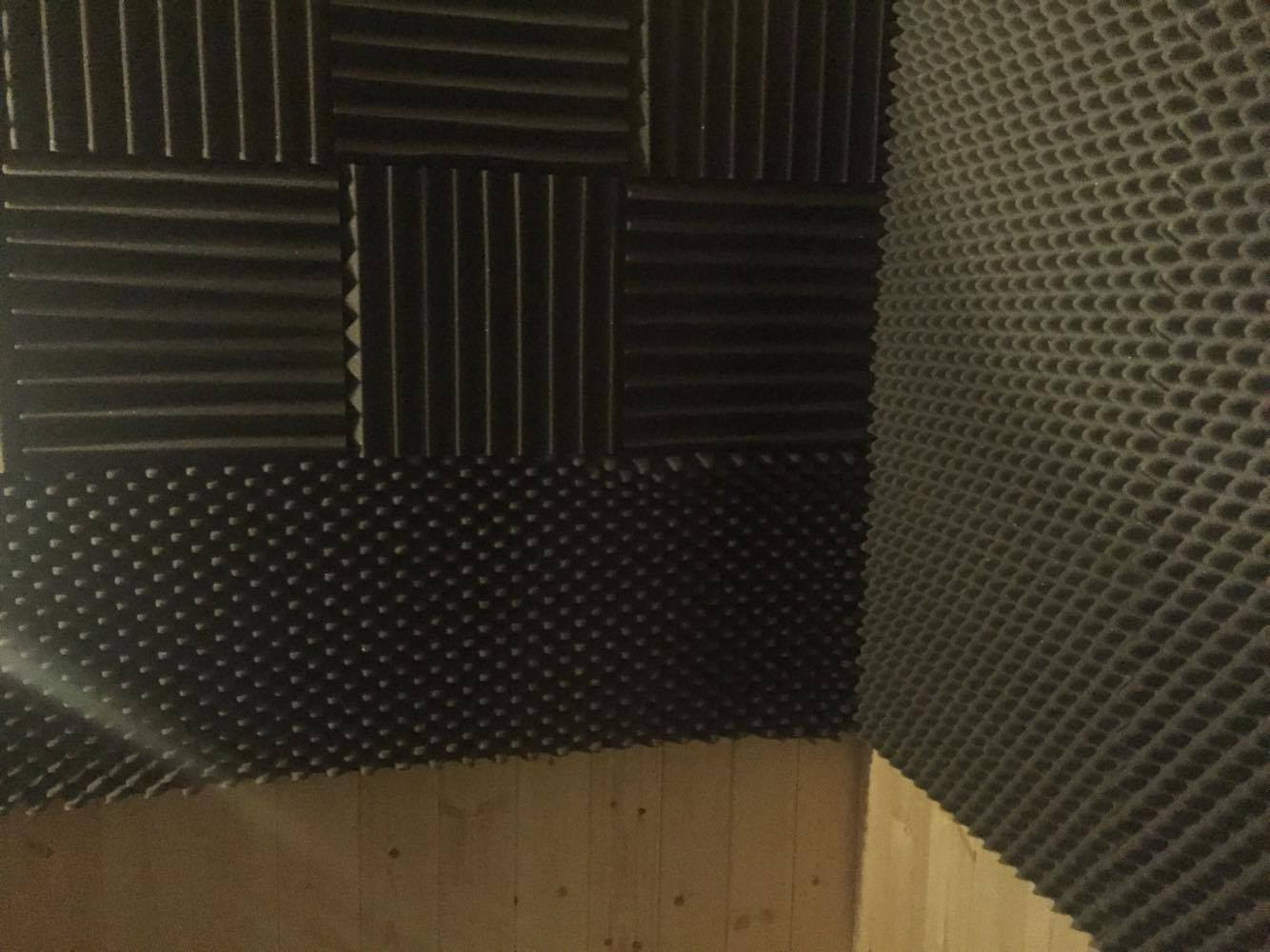 8 of 8:  Treating the Vocal Booth with acoustic foam, and wood paneling.