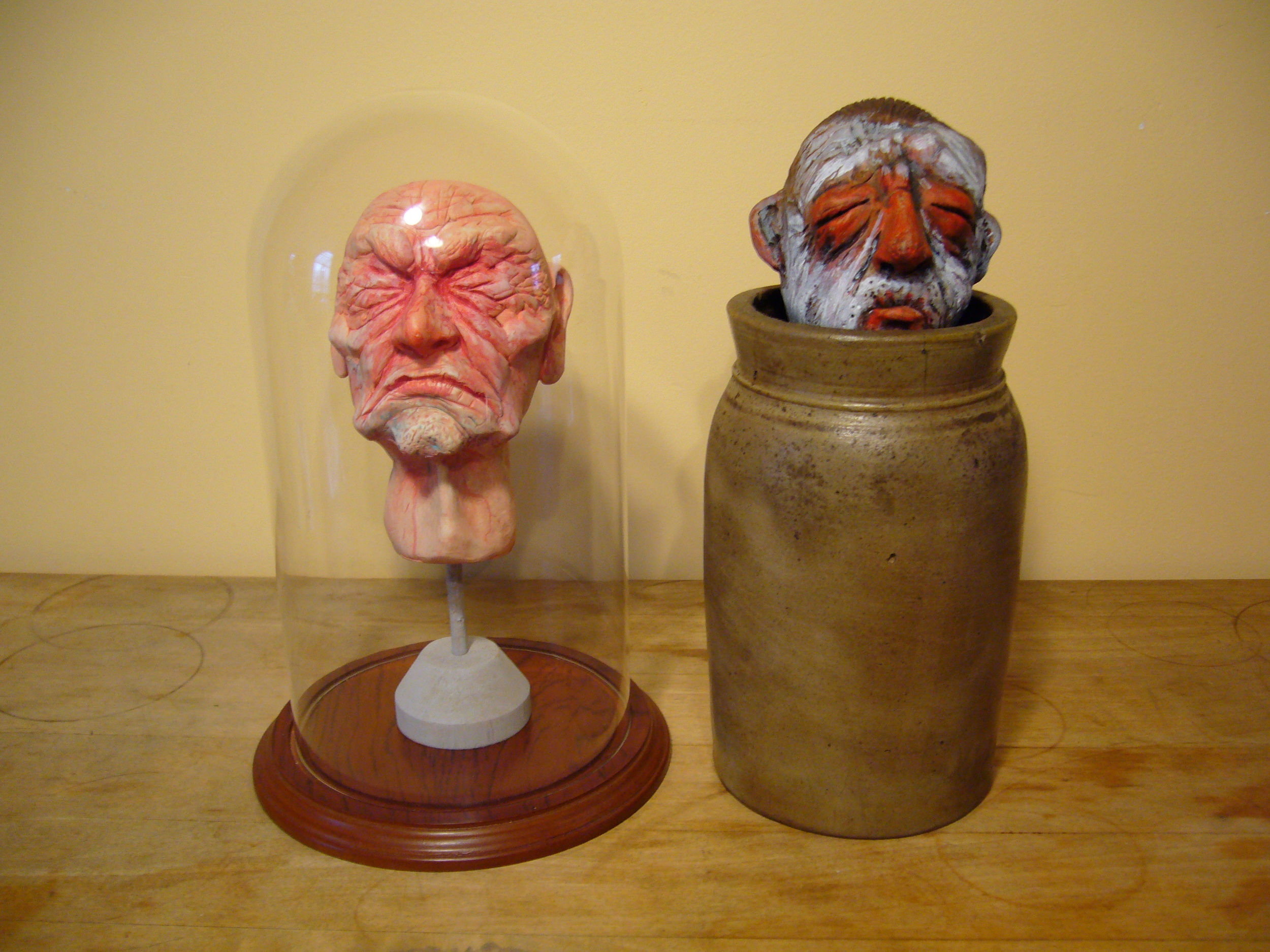Two H.C. Westerman heads
