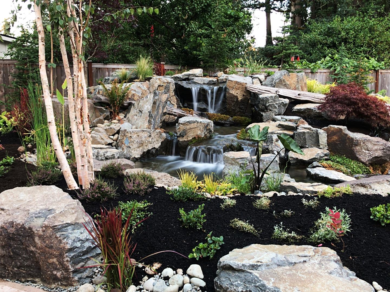 Custom Pond + Landscaping