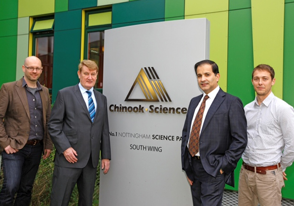 October 31st, 2011  Chinook Sciences Expands its Presence at No.1 Nottingham Science Park