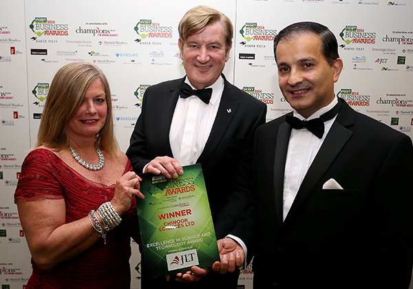 May 2nd, 2014  Chinook Sciences wins Nottingham Post Business Award for Excellence in Science & Technology