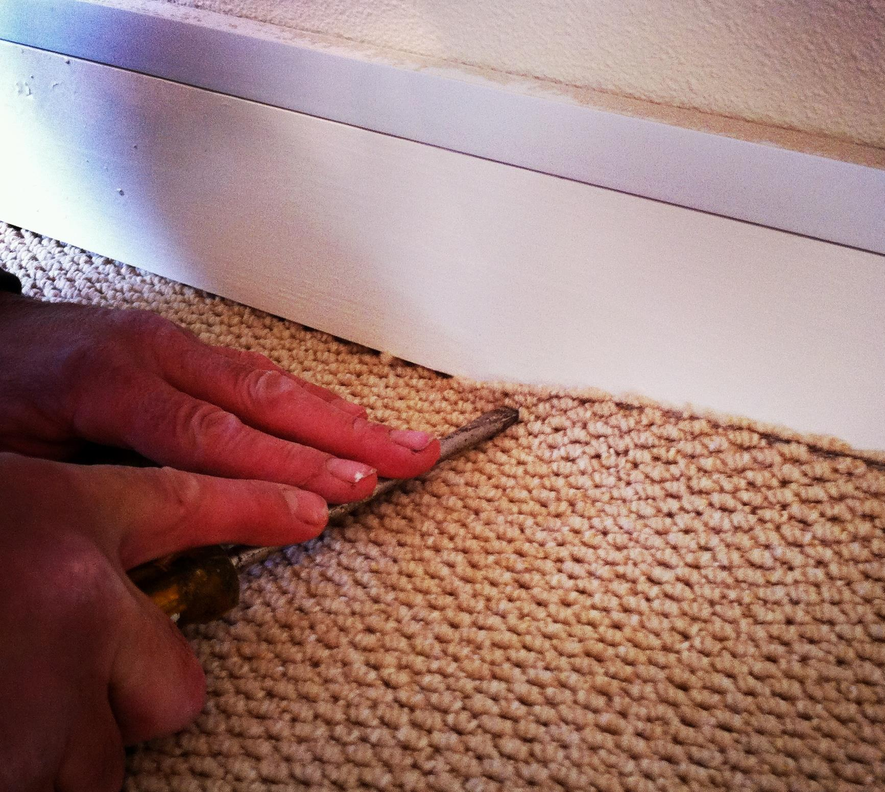 Trunking should be laid before carpet if possible