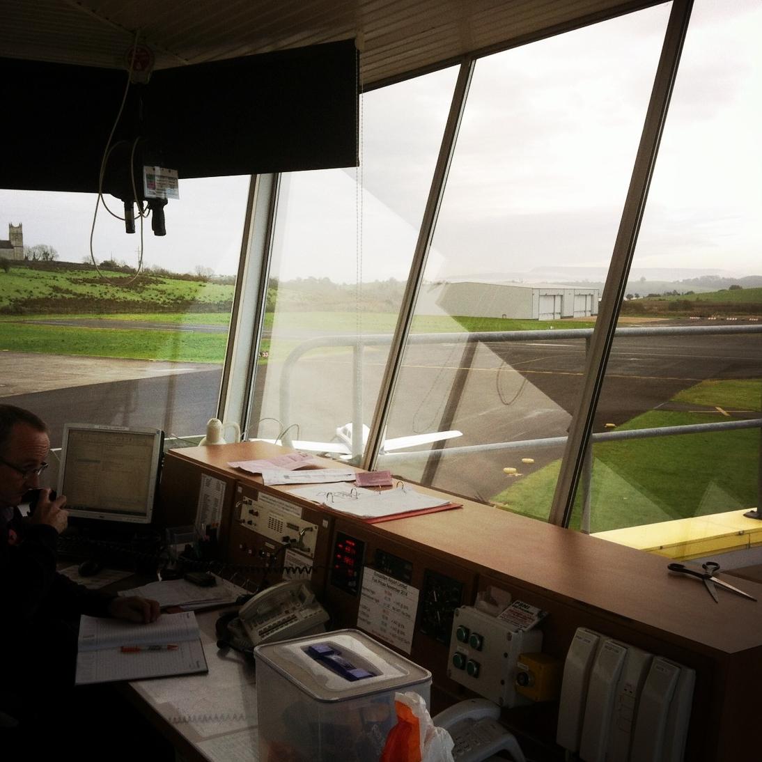 Noel Baskin at the Controls, St Angelo Airport, Enniskillen (Sound Ark 2014)