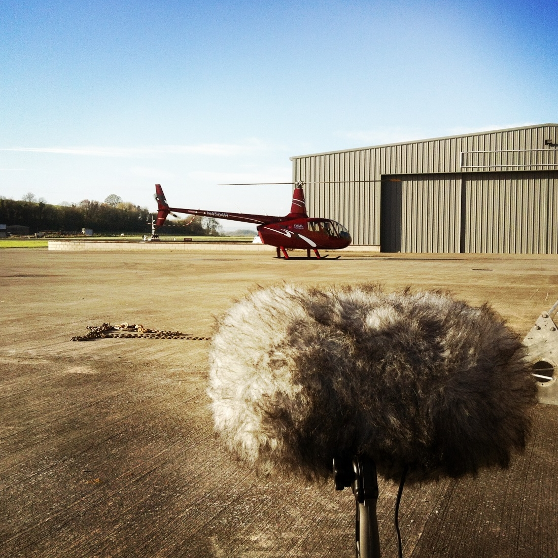 R66 Helicopter Landing, St Angelo Airport (Sound Ark 2014)