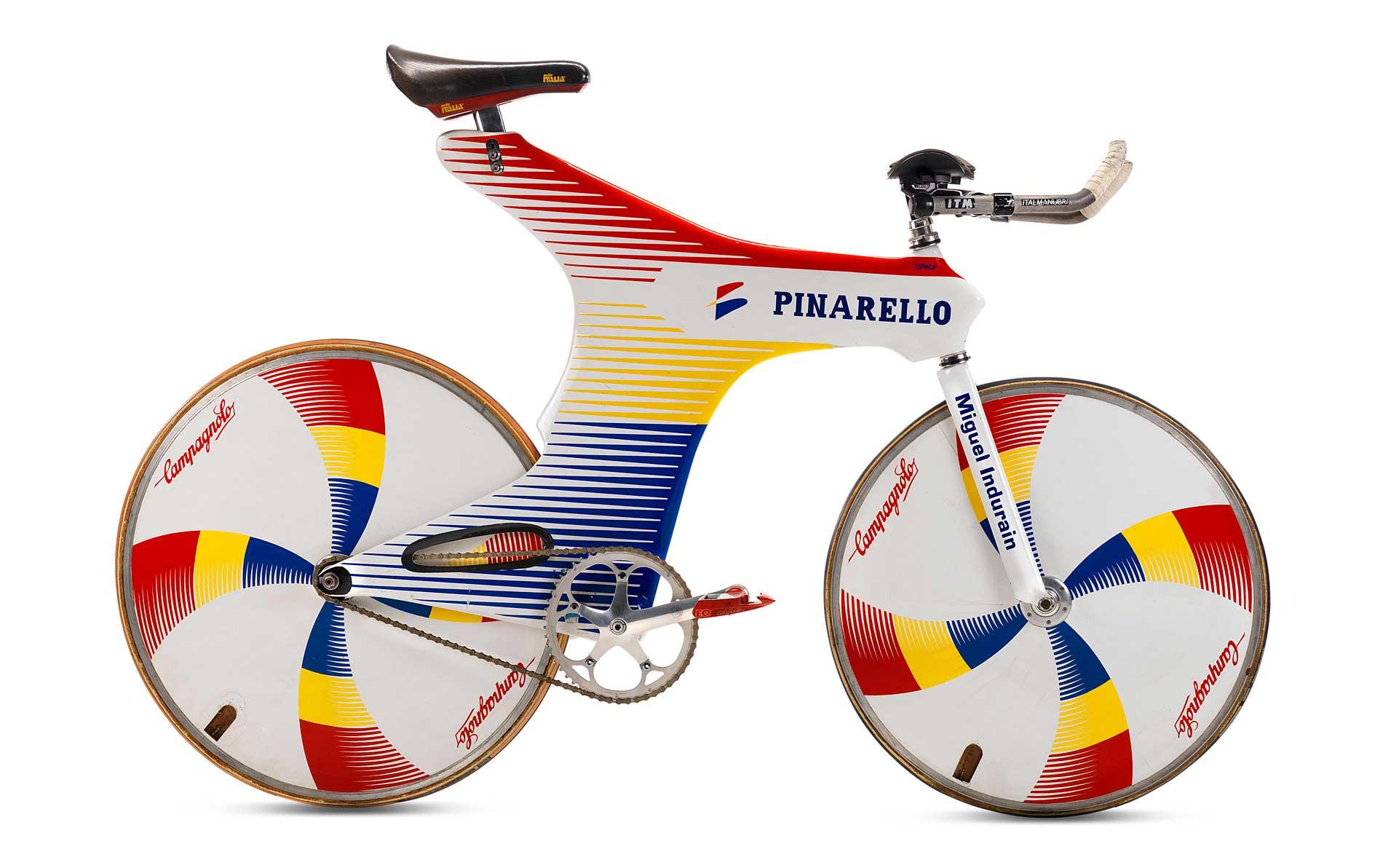 Miguel Indurain's Pinarello Espada Track and (later) Time Trial bike (1994)