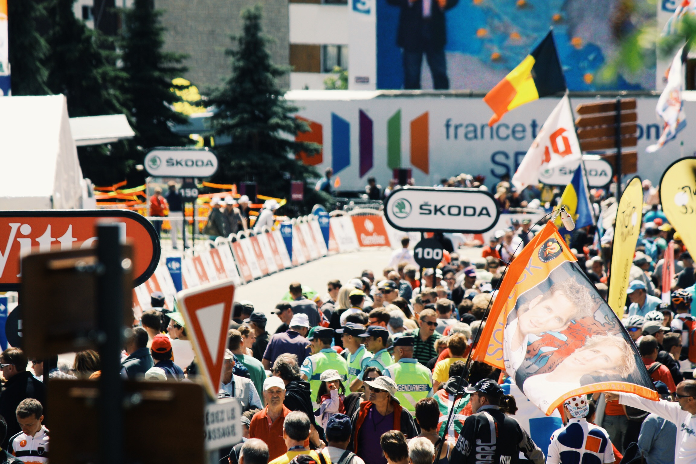 Alpe D'Huez view from finish line