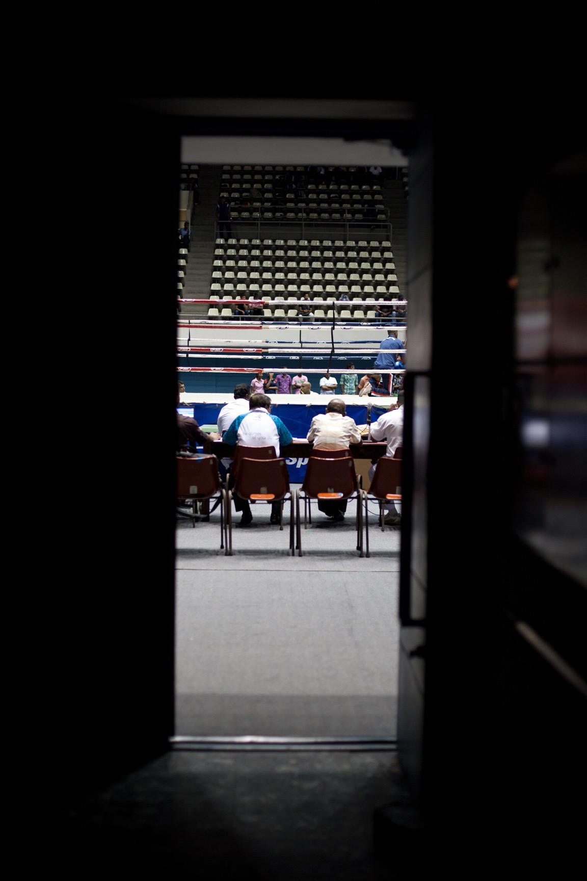 Route to the boxing ring (© Lee Bazalgette)