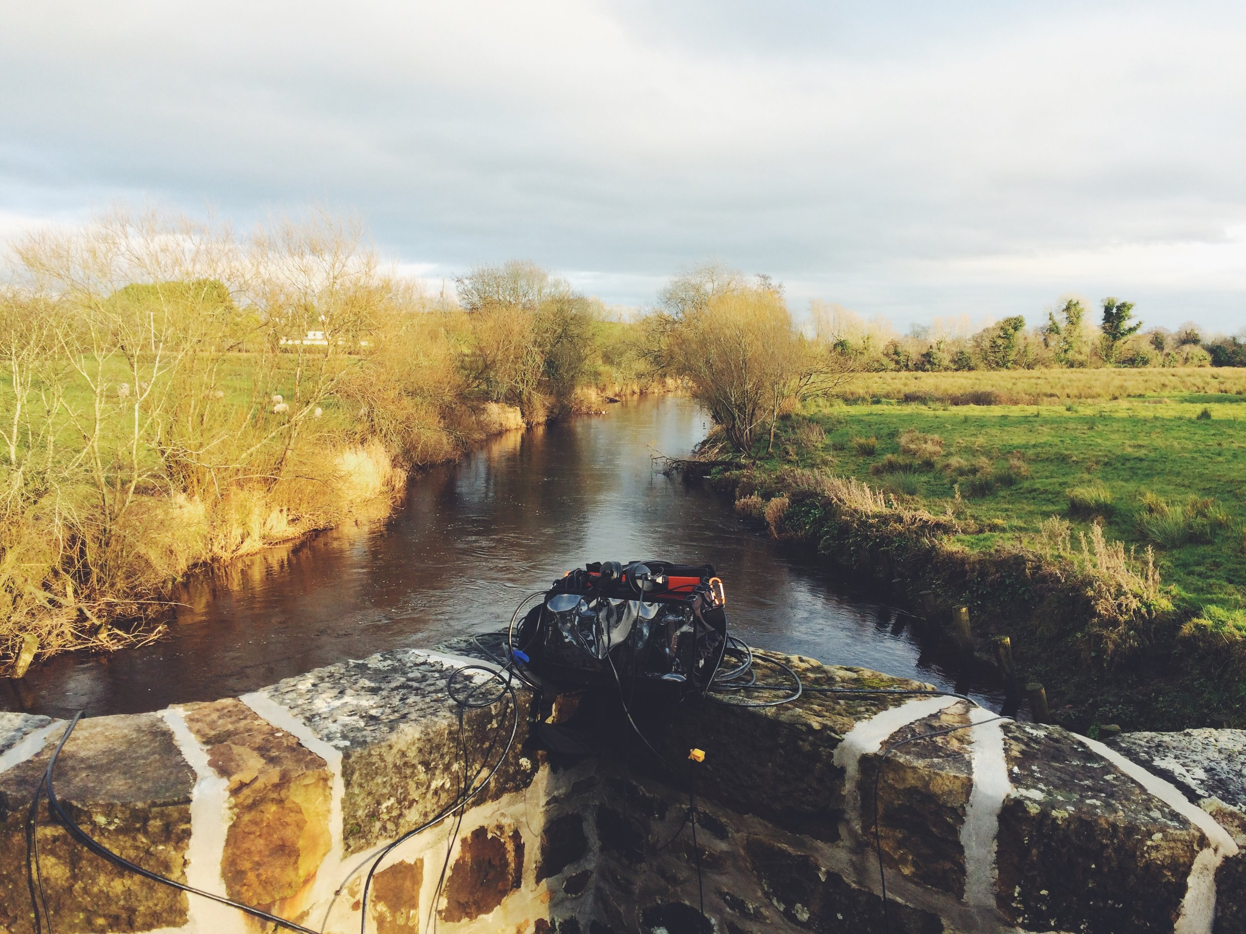The Arney river from Arney bridge in County Fermanagh, Northern Ireland.