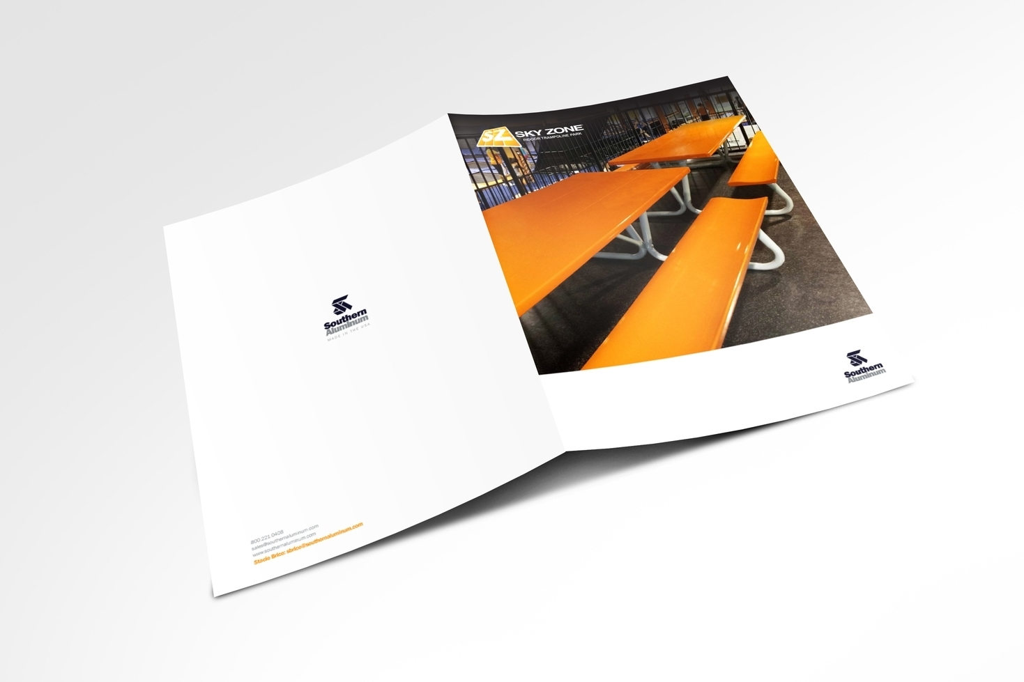 Southern Aluminum Brochure for Sky Zone. Front
