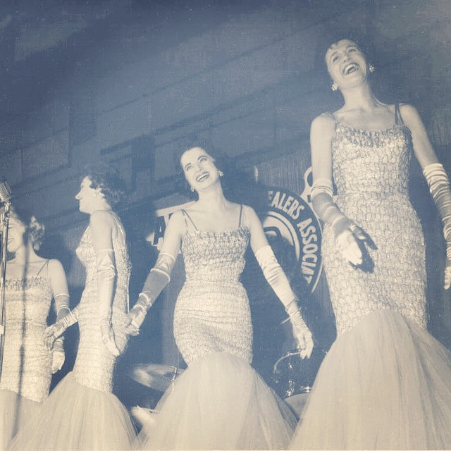 Towards the latter end of #thechordettes storied career.  This and much more at www.chordettes.org.  #chordettes #nyfa #preserve #musichistory #harmonyqueens #omg the #outfits