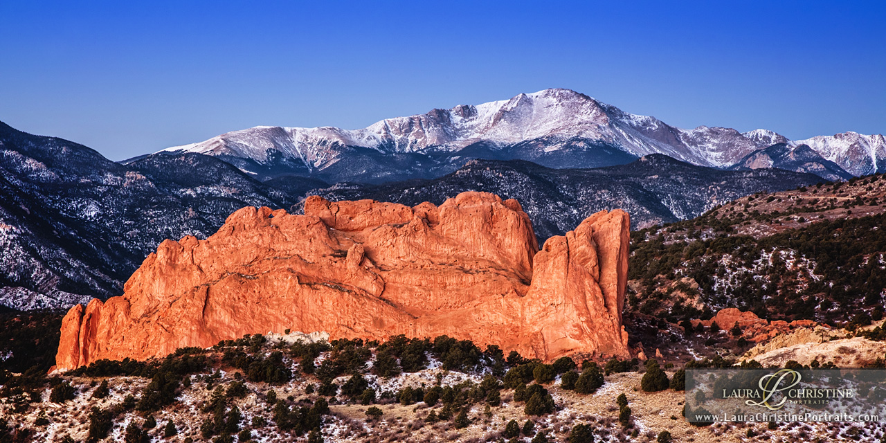 Upon completion of our Christmas concerts, we had the wonderful joy of visiting family in several states, including touring Garden of the Gods! One morning my uncle, along with a few other early birds, traveled to an outlook to beat the sunrise so Laura could capture this photograph!