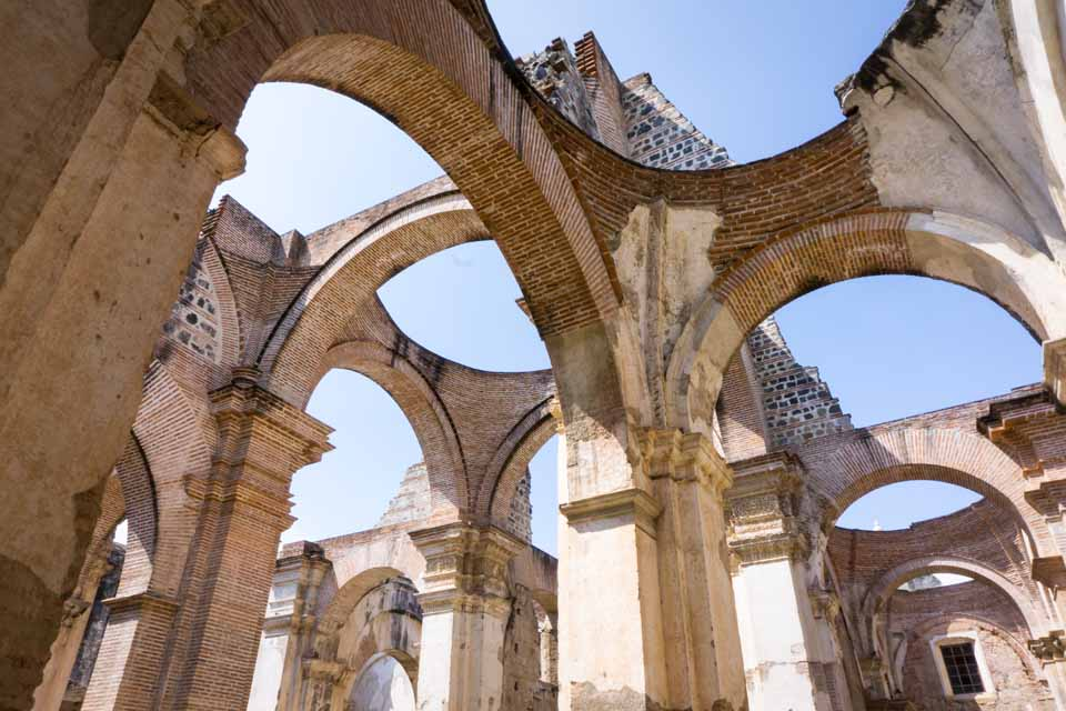 The ruins of a cathedral that was destroyed by earthquake.