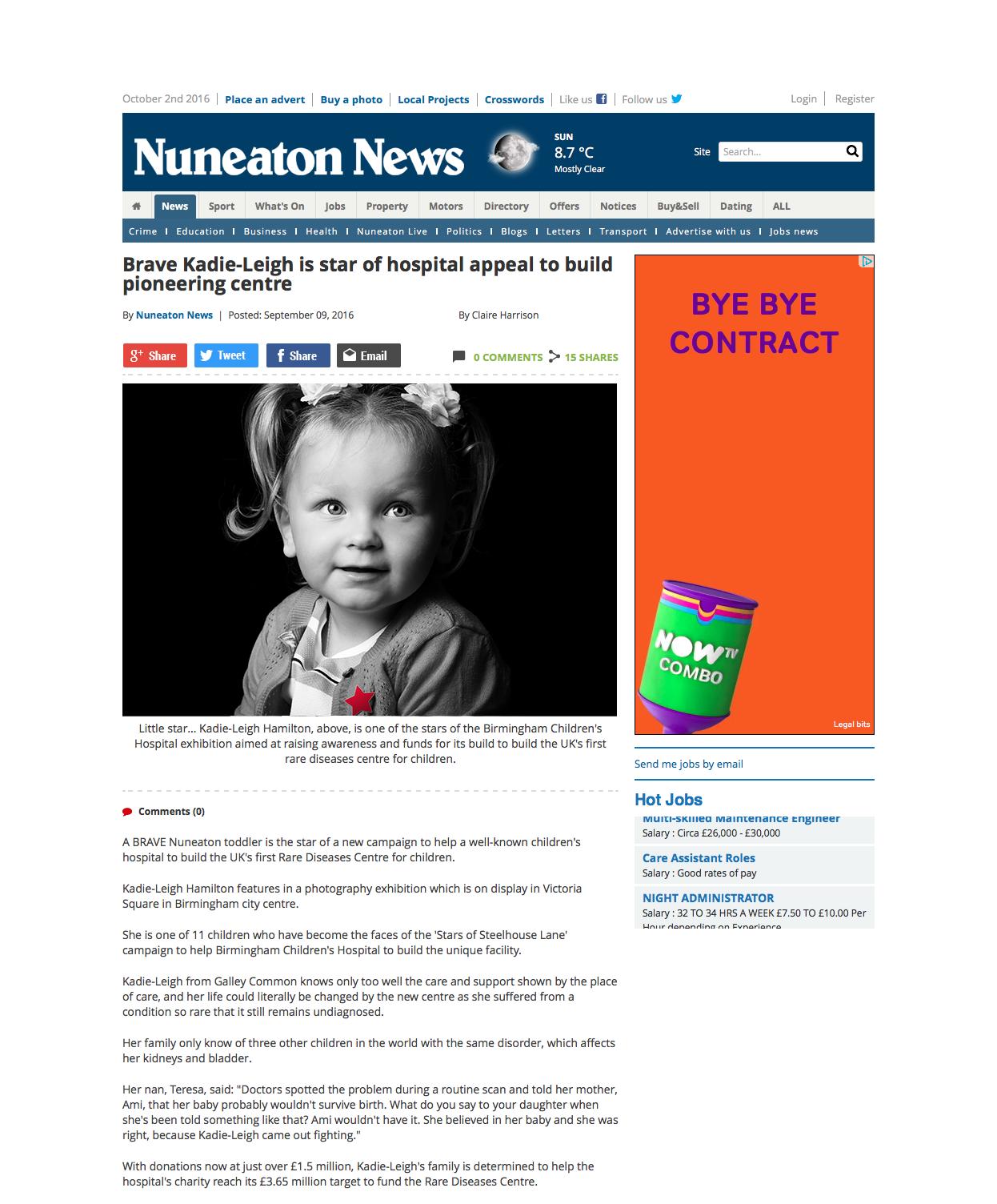 Nuneaton News Article