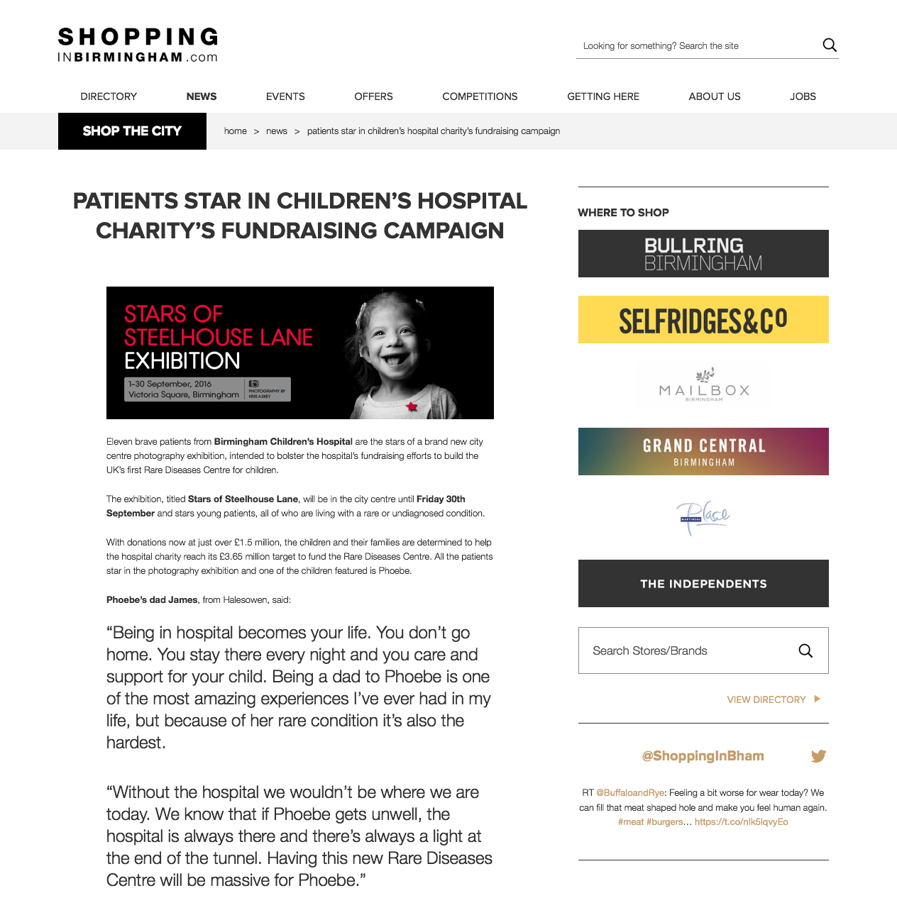 Shopping In Birmingham Article