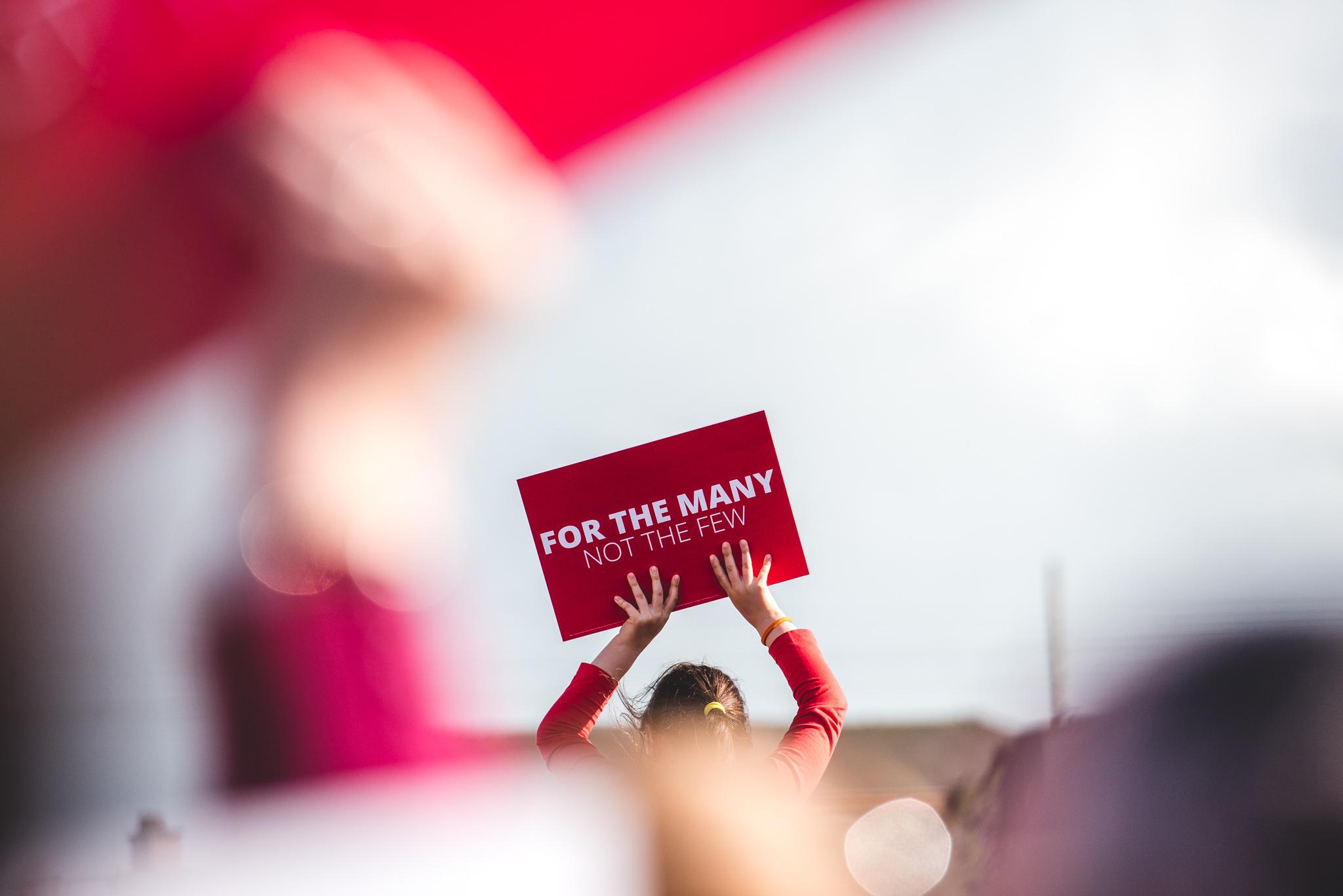 Labour Rally in Birmingham Eastside.
