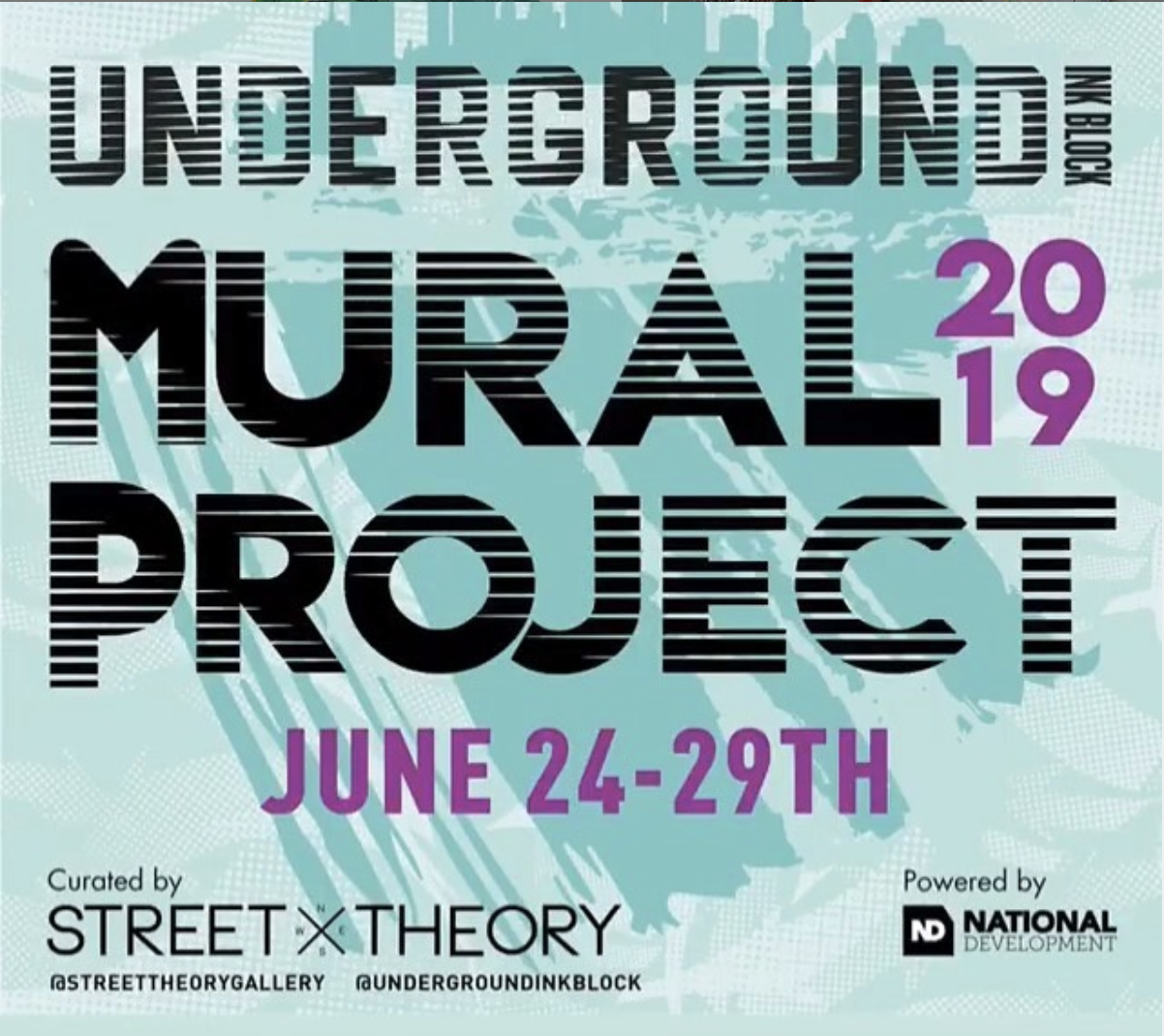Underground Mural Project June 24-29 curated by Street Theory Gallery at InkBlock, Boston .