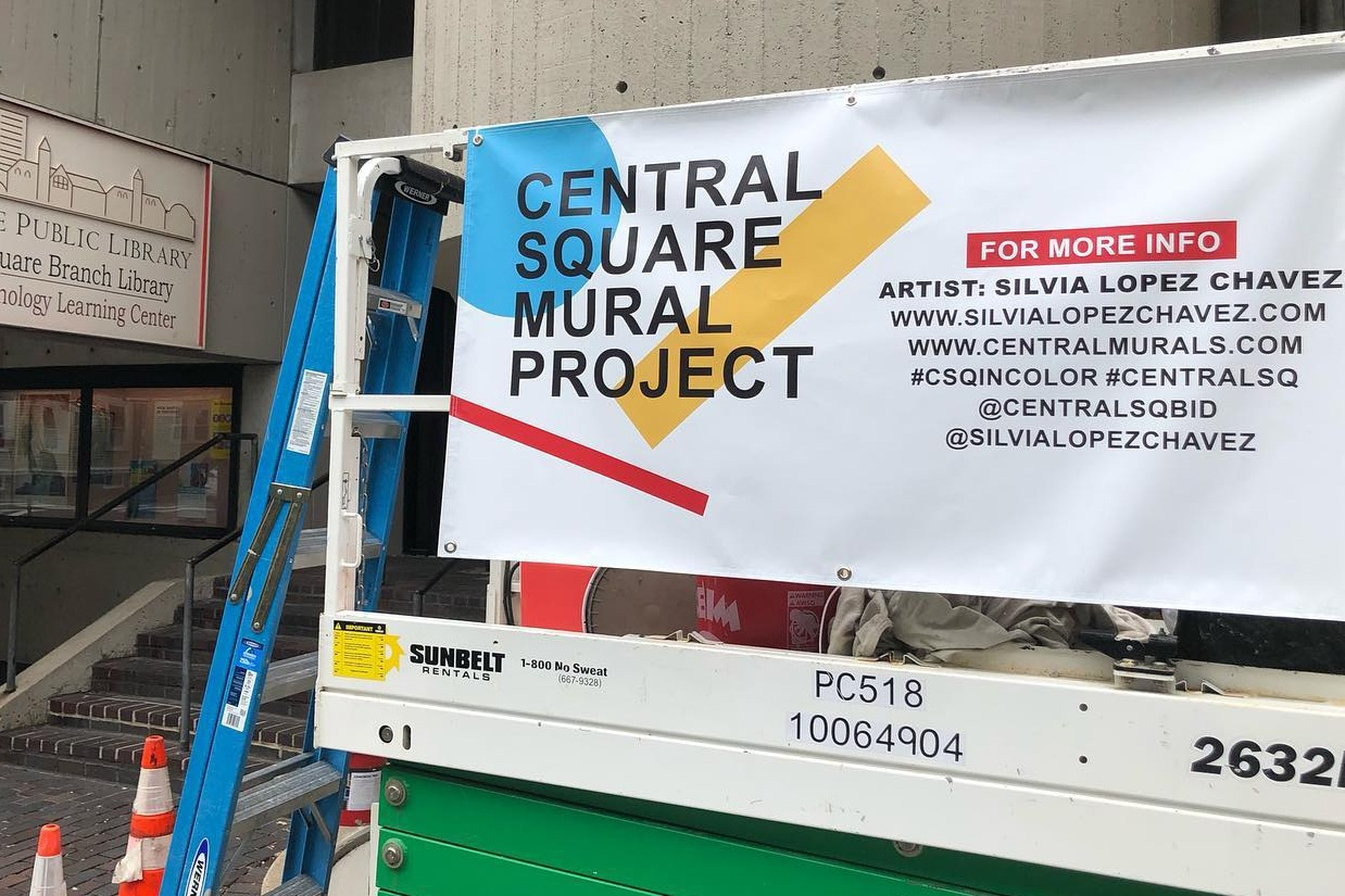 My mural for the Central Square Mural Project Is currently in progress! Check out updates on IG